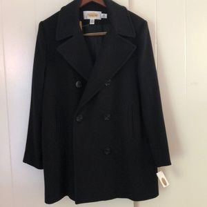 Talbots Black Pea Coat, new with tags